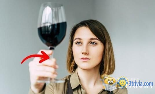 What is the role of the grip of a wine glass?