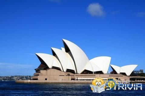 All the sails of the Sydney Opera House are stitched together into a round ball.