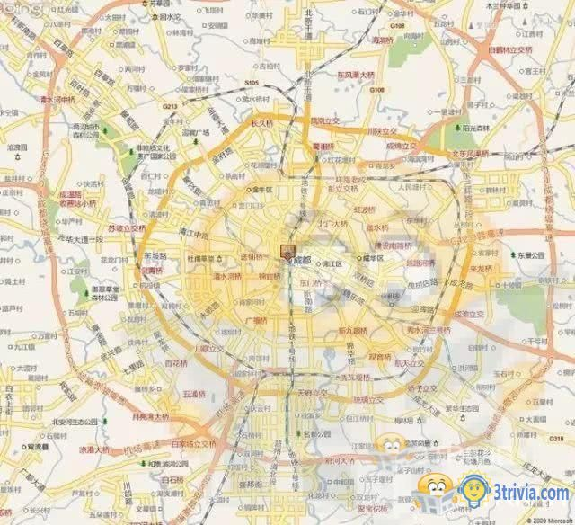 Chengdu's urban layout is not Zhengnan Zhengbei-3trivia