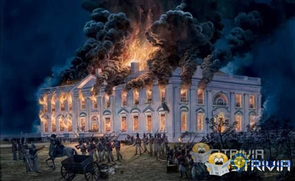 THE WHITE HOUSE BURNED DURING THE WAR OF 1812, BUT THE PATENT OFFICE WAS SPARED.
