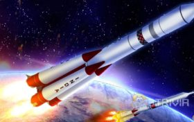 What is the rocket's advance in space without air?