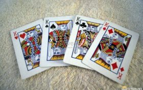 Playing cards Trivia:Who are the characters printed on the four K cards in the playing cards?
