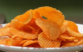 Junk food trivia:Unhealthy vegetarian potato chips?