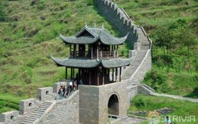 Hunan trivia:There is also the Great Wall in Hunan, China?