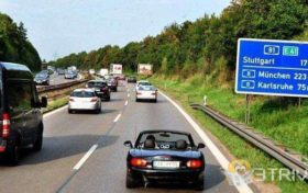 Fuel tank trivia:It is illegal to empty the fuel tank on the German highway.