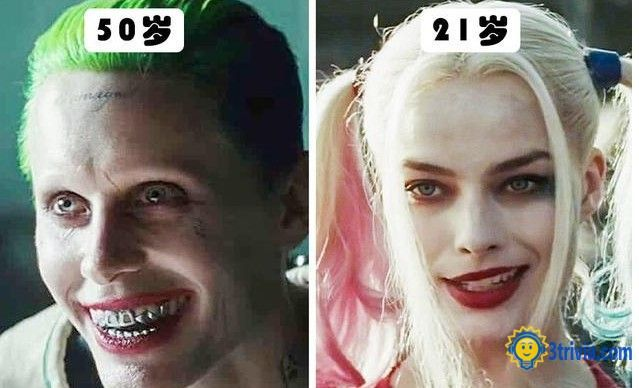 Movie trivia: the age difference between the joker and Harley quinn is bigger than it looks