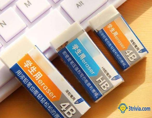 Eraser trivia: What did you use before without an eraser?